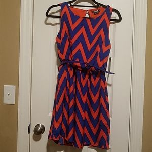 Sequin Hearts Red and Blue Dress